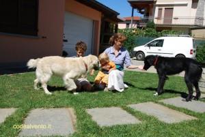 Simone, Davide, Rossana, Spyke e Stella