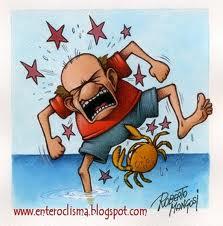 granchio attaccato ai maroni